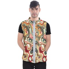 Abstract Background Pattern Art Men s Puffer Vest