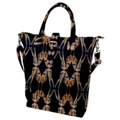 Kaleidoscope Symmetry Pattern Girls Buckle Top Tote Bag