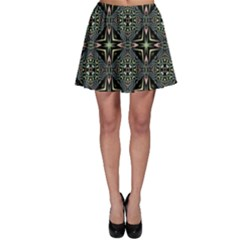 Kaleidoscope Pattern Seamless Skater Skirt by Pakrebo