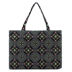 Kaleidoscope Pattern Seamless Zipper Medium Tote Bag