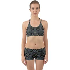 Kaleidoscope Pattern Seamless Back Web Gym Set
