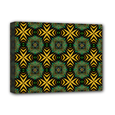 Kaleidoscope Pattern Seamless Deluxe Canvas 16  X 12  (stretched)  by Pakrebo