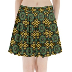 Kaleidoscope Pattern Seamless Pleated Mini Skirt by Pakrebo