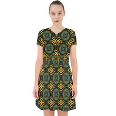 Kaleidoscope Pattern Seamless Adorable In Chiffon Dress by Pakrebo