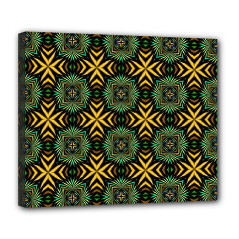 Kaleidoscope Pattern Seamless Deluxe Canvas 24  X 20  (stretched) by Pakrebo