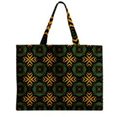 Kaleidoscope Pattern Seamless Zipper Mini Tote Bag