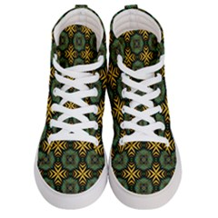 Kaleidoscope Pattern Seamless Women s Hi Top Skate Sneakers