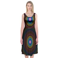Artskop Kaleidoscope Pattern Midi Sleeveless Dress