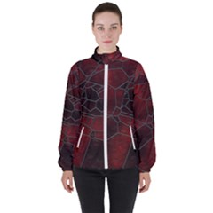 Mosaic Glass Glass Mosaic Colorful High Neck Windbreaker (women) by Pakrebo