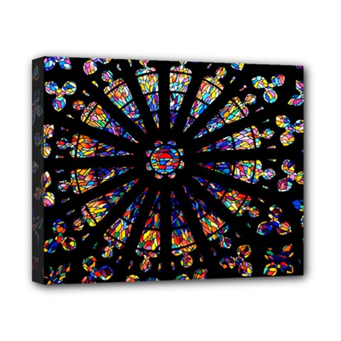 Church Stained Glass Windows Colors Canvas 10  X 8  (stretched)