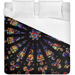Church Stained Glass Windows Colors Duvet Cover (king Size)
