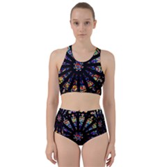 Church Stained Glass Windows Colors Racer Back Bikini Set