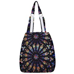 Church Stained Glass Windows Colors Center Zip Backpack