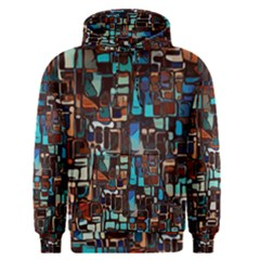 Stained Glass Mosaic Abstract Men s Pullover Hoodie