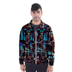 Stained Glass Mosaic Abstract Windbreaker (men)