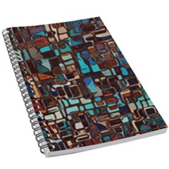 Stained Glass Mosaic Abstract 5 5  X 8 5  Notebook by Pakrebo