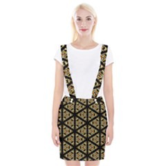Pattern Stained Glass Triangles Braces Suspender Skirt