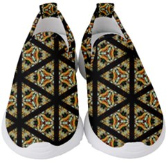 Pattern Stained Glass Triangles Kids  Slip On Sneakers