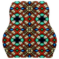 Stained Glass Pattern Texture Face Car Seat Velour Cushion