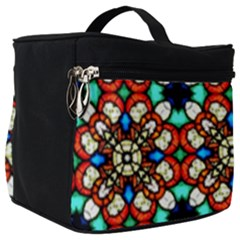 Stained Glass Pattern Texture Face Make Up Travel Bag (big) by Pakrebo