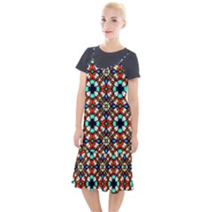 Stained Glass Pattern Texture Face Camis Fishtail Dress