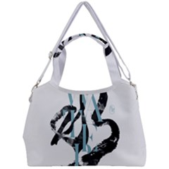 Water Calligraphy  Double Compartment Shoulder Bag