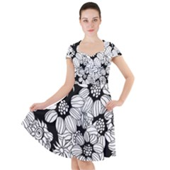 Mandala Calming Coloring Page Cap Sleeve Midi Dress