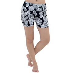 Mandala Calming Coloring Page Lightweight Velour Yoga Shorts