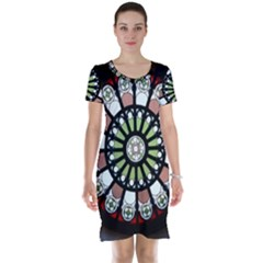 Color Light Glass Short Sleeve Nightdress
