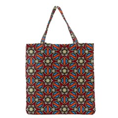 Pattern Stained Glass Church Grocery Tote Bag