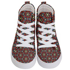 Pattern Stained Glass Church Kids  Hi Top Skate Sneakers