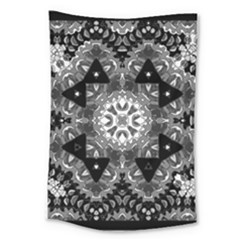 Mandala Calming Coloring Page Large Tapestry
