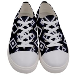 Native American Pattern Women s Low Top Canvas Sneakers