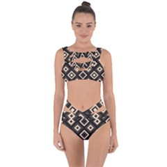 Native American Pattern Bandaged Up Bikini Set