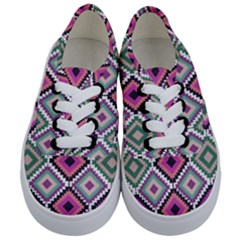 Native American Pattern Kids  Classic Low Top Sneakers