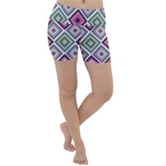 Native American Pattern Lightweight Velour Yoga Shorts by Valentinaart