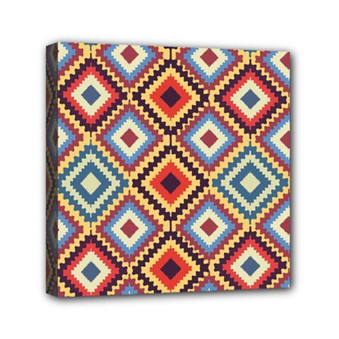 Native American Pattern Mini Canvas 6  X 6  (stretched)
