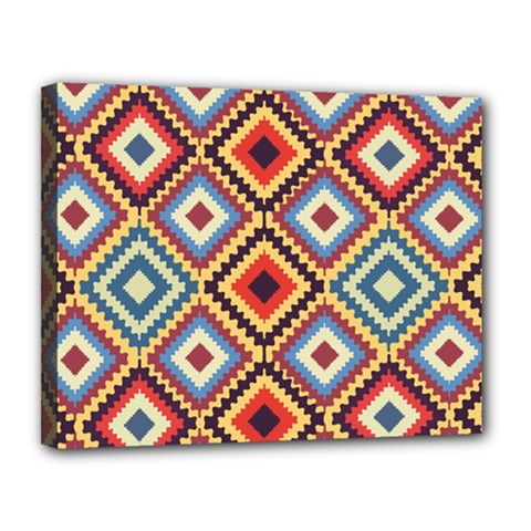 Native American Pattern Canvas 14  X 11  (stretched)