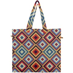 Native American Pattern Canvas Travel Bag