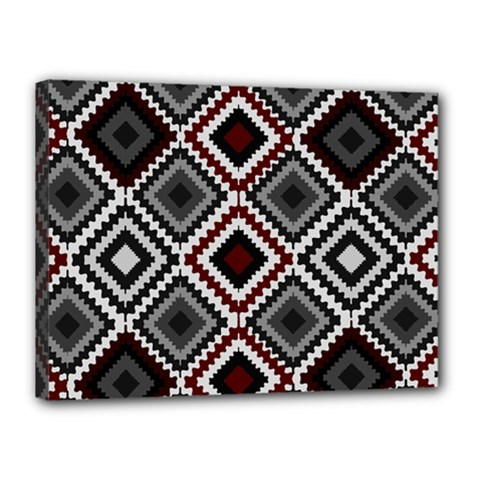 Native American Pattern Canvas 16  X 12  (stretched)