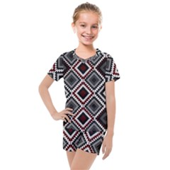 Native American Pattern Kids  Mesh Tee And Shorts Set