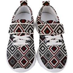 Native American Pattern Kids  Velcro Strap Shoes by Valentinaart
