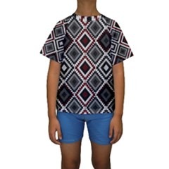 Native American Pattern Kids  Short Sleeve Swimwear