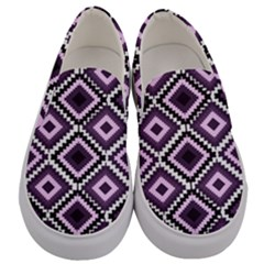 Native American Pattern Men s Canvas Slip Ons