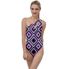 Native American Pattern To One Side Swimsuit by Valentinaart