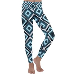Native American Pattern Kids  Lightweight Velour Classic Yoga Leggings