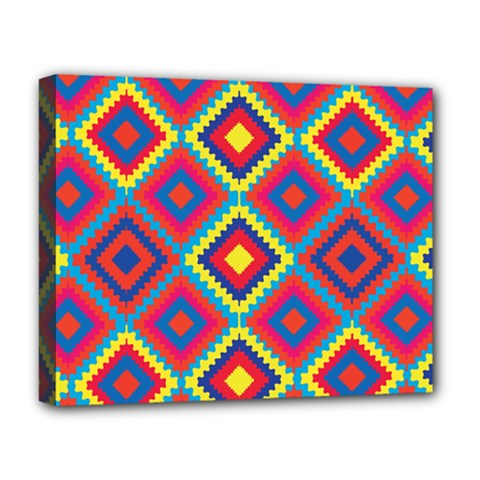 Native American Pattern Deluxe Canvas 20  X 16  (stretched) by Valentinaart