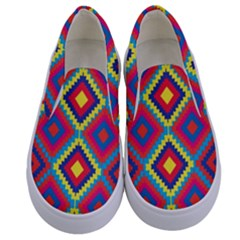 Native American Pattern Kids  Canvas Slip Ons
