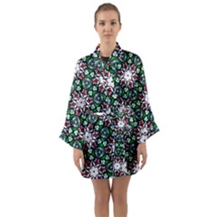 Stained Glass Pattern Church Window Long Sleeve Kimono Robe