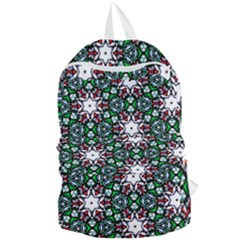 Stained Glass Pattern Church Window Foldable Lightweight Backpack